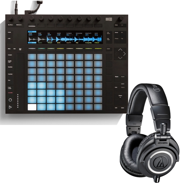 Ableton Push 2 Controller for Live 9.5 & Audio-Technica M50X Producer Headphones