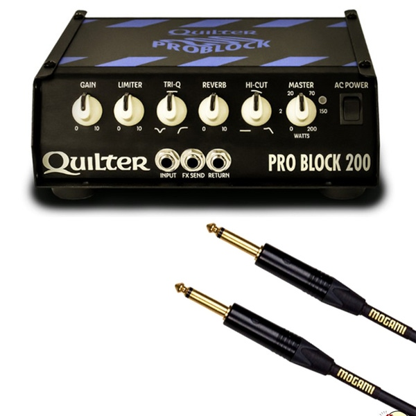 Quilter Pro Block 200 Guitar Amplifier Head with Mogami Gold 10 ft Instrument Cable