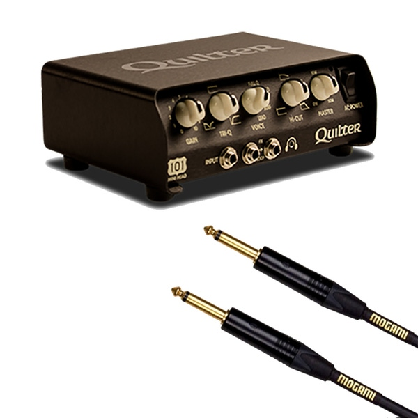Quilter 101 100-Watt Mini Amplifier Head with Mogami Gold 10 ft Instrument Cable