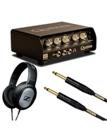 Quilter 101 100-Watt Mini Amplifier Head with Sennheiser HD 201 Headphones, & 10 ft Mogami Gold Cable
