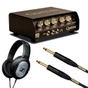 Quilter 101 100-Watt Mini Amplifier Head with Sennheiser HD 201 Headphones, & 10 ft Mogami Gold Cable