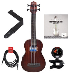Kala U-BASS Rumbler Fretless Ukulele Bass Essentials Pack