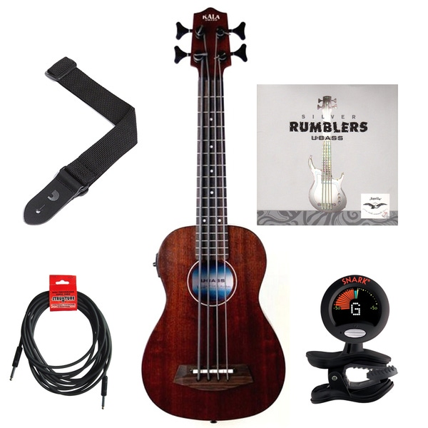 Kala U-BASS Rumbler Fretted Ukulele Bass Essentials Pack