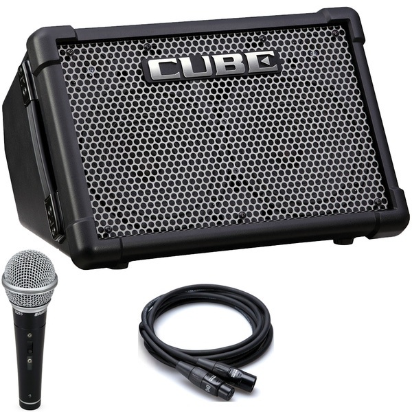 Roland CUBE Street EX Guitar Combo Amp with Vocal Mic and Cable