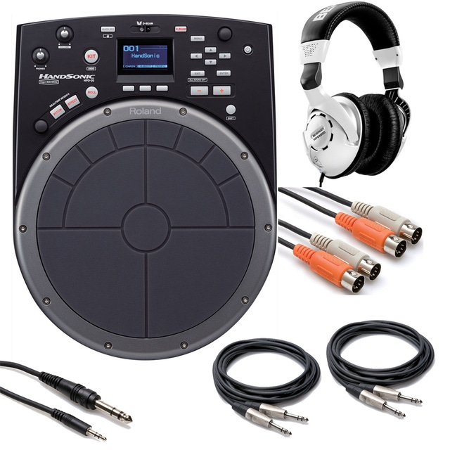 Roland HPD20 HandSonic Electronic Drum Controller with Cables and Heaphones