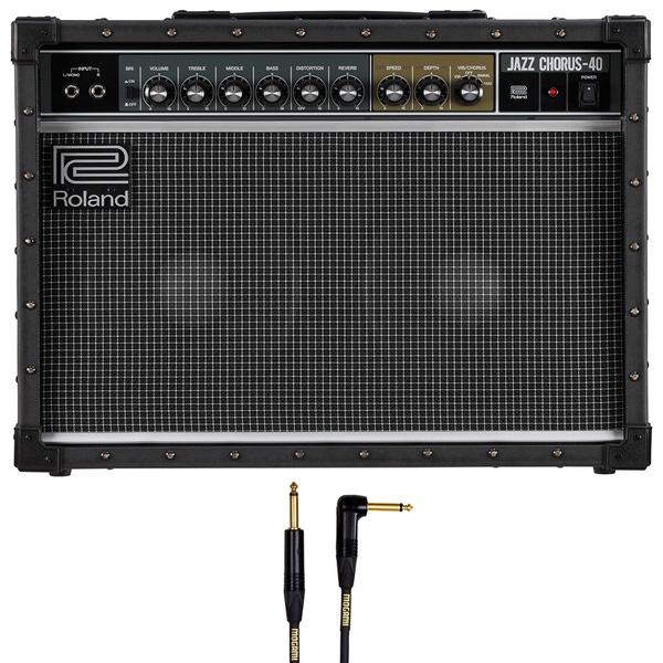 Roland JC-40 Jazz Chorus Guitar Amplifier with 10' Mogami Instrument Cable