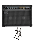 "Roland JC-40 Jazz Chorus 2x10"" Guitar Amplifier with Ultimate Support Amp Stand"