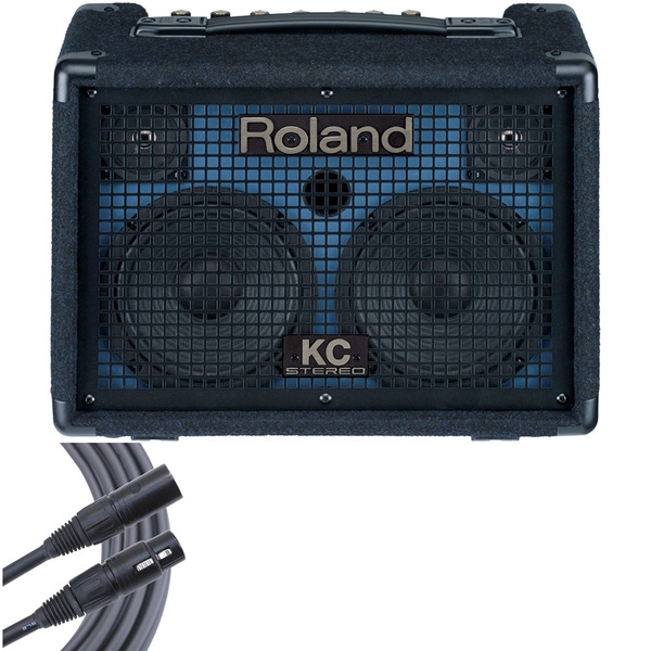 Roland KC-110 Battery-Powered Keyboard Amplifier + 6' Mogami Microphone Cable