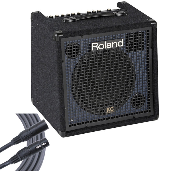 Roland KC-350 4-Ch 120W Keyboard Amplifier + 6' Mogami Gold Microphone Cable