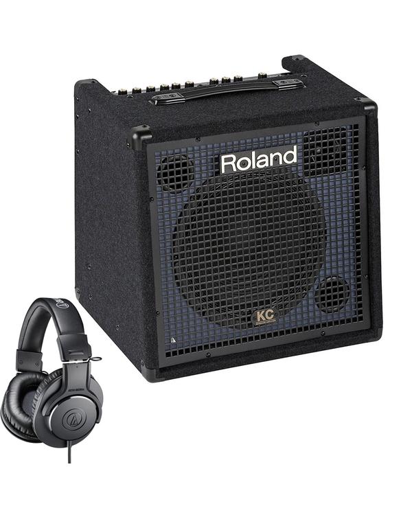 Roland KC-350 4-Ch 120W Keyboard Amplifier + Audio-Technica M20X Headphones