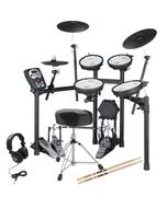 Roland TD-11KV Electronic Drum Kit with Double Kick Pedal, Throne, Sticks, & Headphones