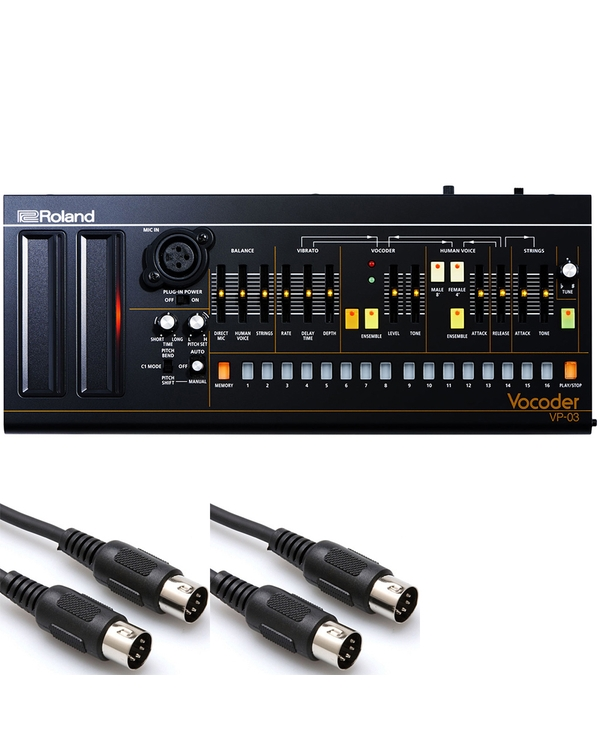 Roland VP-03 Vocoder with 10 ft MIDI Cables