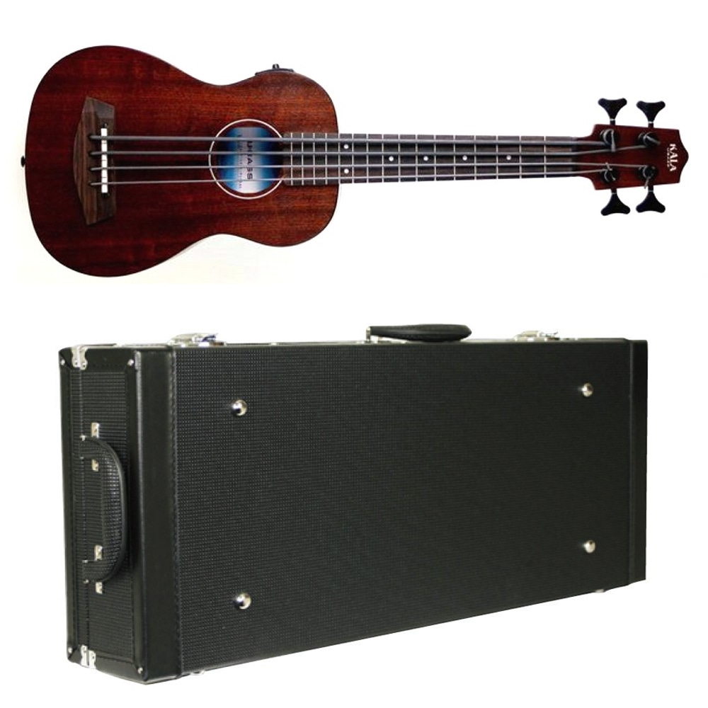 pitbull audio kala u bass rumbler fretted ukulele bass with diamond black hard case. Black Bedroom Furniture Sets. Home Design Ideas