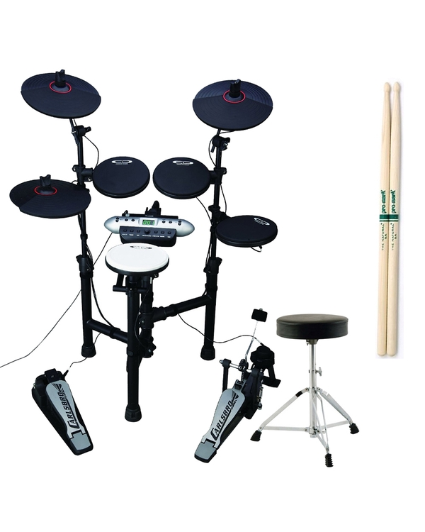 Samson Carlsbro CSD130 Compact Electronic Drum Kit with Throne and Sticks
