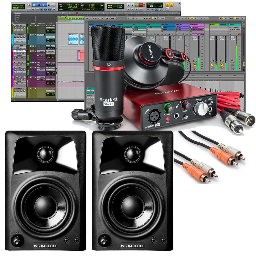 pitbull audio focusrite scarlett solo studio 2nd gen pro tools first recording bundle with m. Black Bedroom Furniture Sets. Home Design Ideas