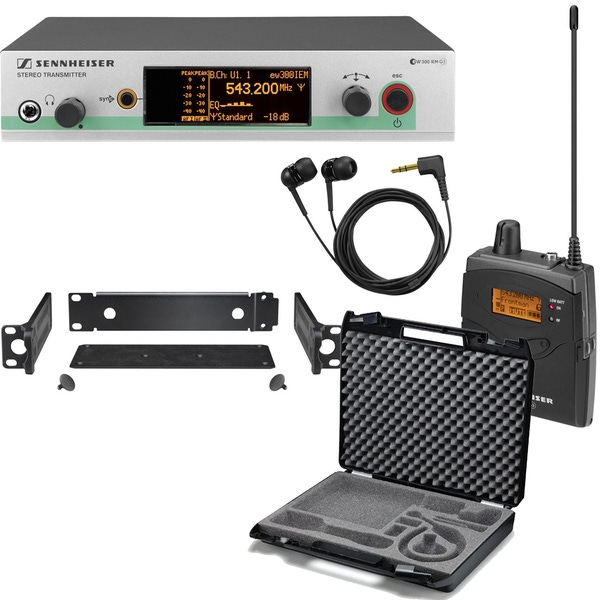 Sennheiser ew 300 IEM G3 In-Ear Wireless Monitor System (Band-G: 566-608 MHz) with CC3 Carry Case