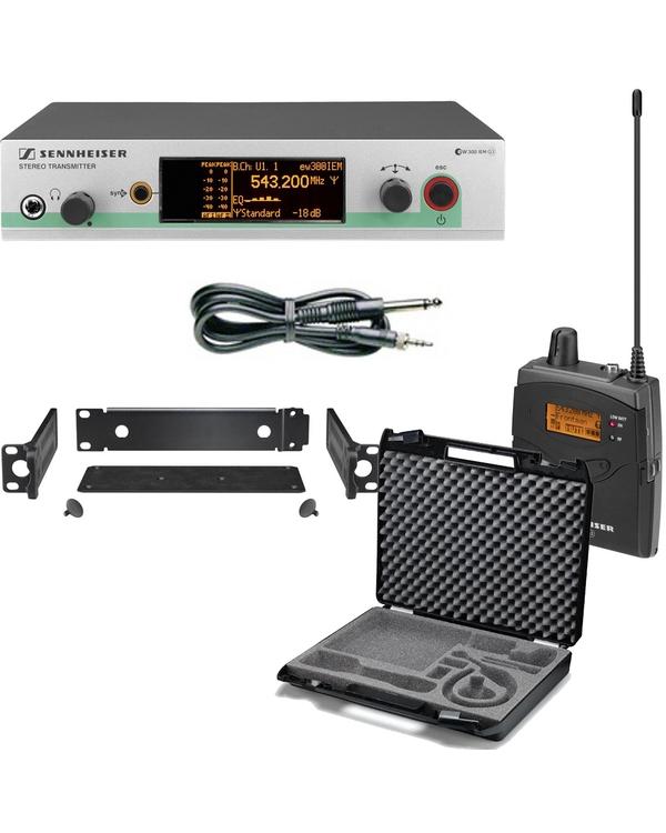 Sennheiser EW 572 G3 Pro Wireless Instrument Set (Band-A: 516-558 MHz) with CC3 Carry Case