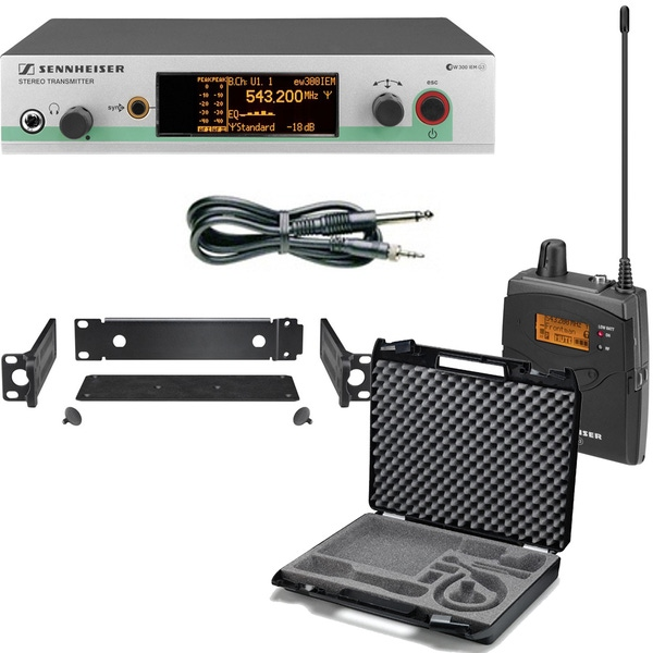Sennheiser EW 572 G3 Pro Wireless Instrument Set (Band-G: 566-608 MHz) with CC3 Carry Case