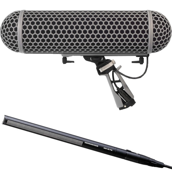 Sennheiser MKH416 Shotgun Mic and Rode Blimp 2 Windshield Kit