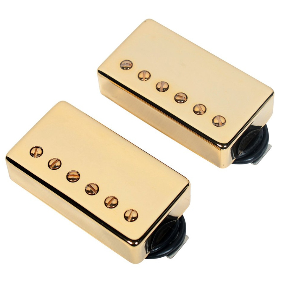 pitbull audio seymour duncan sh 18 whole lotta humbucker set bridge neck gold. Black Bedroom Furniture Sets. Home Design Ideas