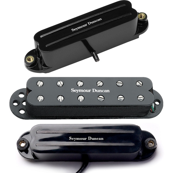 Seymour Duncan SHR-1 Hot Rails for Strat Bridge/Neck Set with SJBJ-1n JB Guitar Pickup - Black