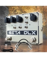 SolidGoldFX Beta DLX Deluxe Bass Overdrive Guitar Effects Pedal with Power Supply and Patch Cables