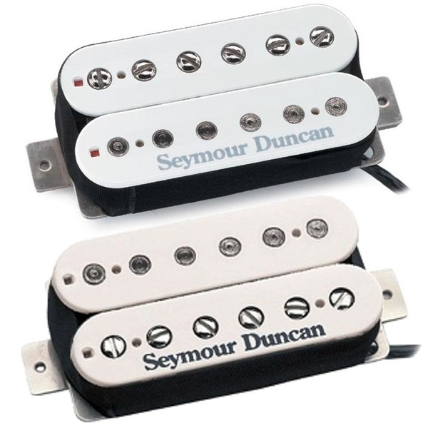 Seymour Duncan SH-5 Custom Bridge & SH-2n Jazz Neck Humbucker Pickups White Set