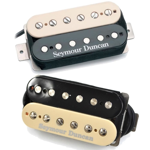Seymour Duncan SH-5 Custom Bridge & SH-2n Jazz Neck Humbucker Pickups Zebra Set