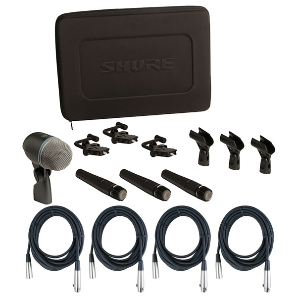 Shure DMK57-52 Drum Microphone Kit and (4) 20' XLR Cables
