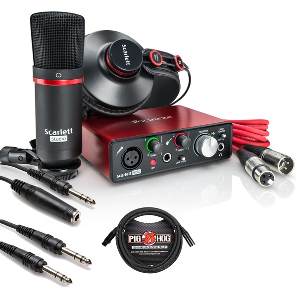 Focusrite Scarlett Solo Studio (2nd Gen) Recording Pack with Pro Tools First & Cable Kit