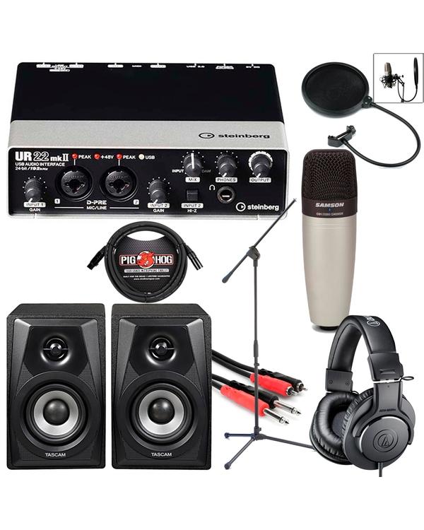Steinberg UR22mkII USB Audio Interface Complete Home Recording Bundle