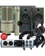 PreSonus Studio 26 - 24 Bit 192 kHz, Audio/MIDI Interface + Mackie CR4 Monitors Recording Bundle
