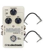 TC Electronic Mimiq Doubler Realistic Guitar Doubling Effects Pedal with Patch Cables