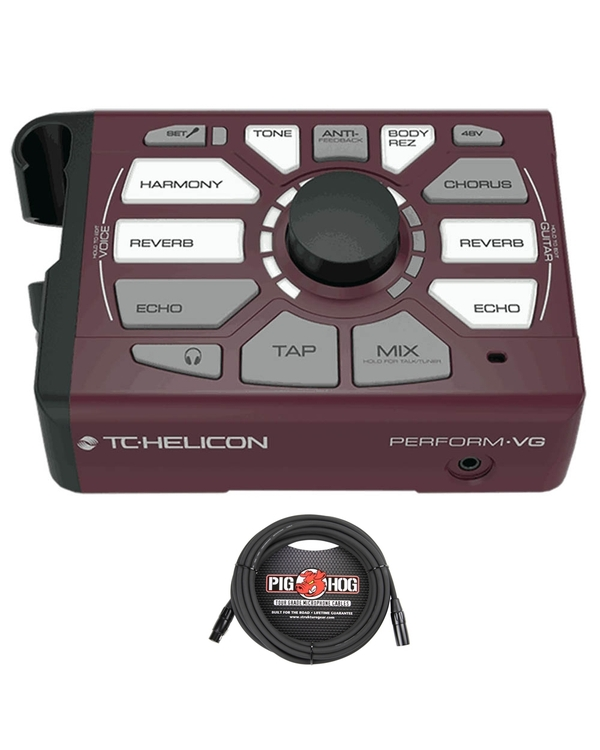 TC Helicon Perform-VG Vocal and Acoustic Guitar Processor with 20' Mic Cable