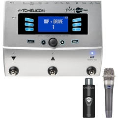 TC Helicon VoiceLive Play Electric Effects Processor with MCA100 Adapter and Blue enCORE 100 Microphone