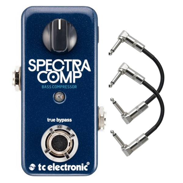 TC Electronic SpectraComp Bass Compressor Pedal with Patch Cables