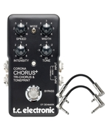 TC Electronic Corona SCF - Chorus and Tri-Chorus Guitar Effects Pedal with Patch Cables