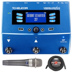 TC Helicon Voicelive Play Vocal Effects Processor with enCore 100 Microphone and XLR Cable