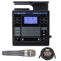 TC Helicon VoiceLive Touch 2 Vocal Effects Looper Processor with enCore 100 Microphone and XLR Cable