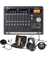 Tascam DP-03SD Portable Recording Interface Bundle with Microphone and Headphones