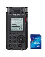 Tascam DR-100 MKIII Linear PCM Recorder with FREE Adata Premier SDHC 32GB Memory Card