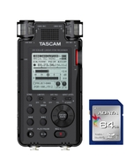 Tascam DR-100 MKIII Linear PCM Recorder with Adata Premier SDXC 64GB Memory Card