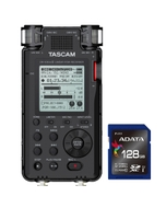 Tascam DR-100 MKIII Linear PCM Recorder with Adata Premier SDXC 128GB Memory Card