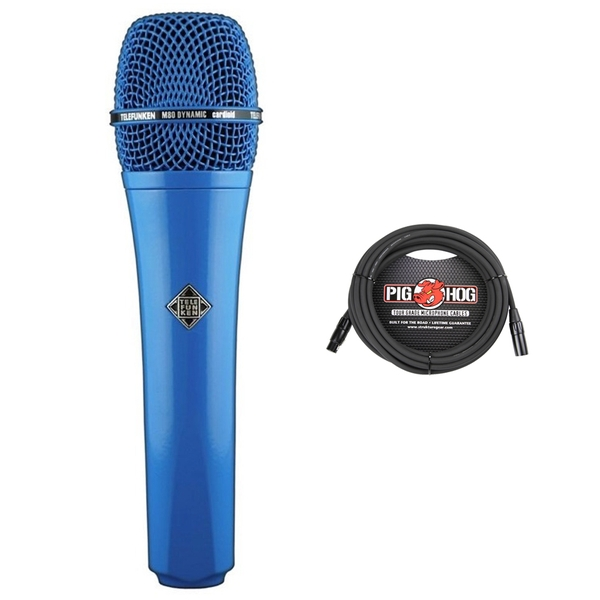 Telefunken M80 Dynamic Microphone (Blue) with Cable