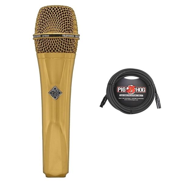 Telefunken M80 Dynamic Microphone (Gold) with Cable