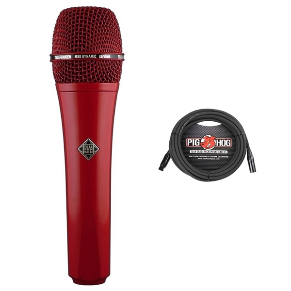 Telefunken M80 Dynamic Microphone (Red) with Cable