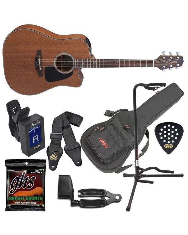 Takamine GD11MCE Dreadnought Acoustic-Electric Guitar Natural Satin Bundle