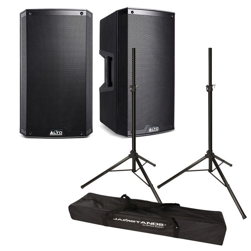 "Alto TS212 12"" Powered Speaker Pair and Stands Pack"