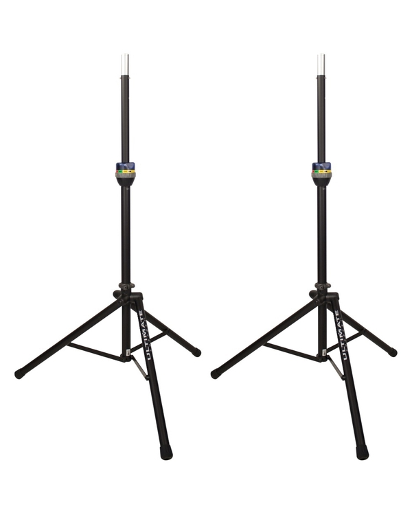 Ultimate Support TS-90B TeleLock Series Lift-assist Aluminum Speaker Stand Pair