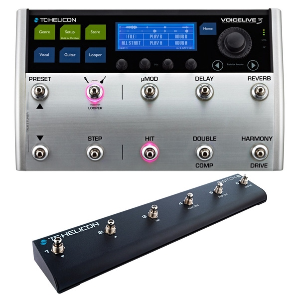 TC Helicon VoiceLive 3 Vocal/Guitar Effects Multi-Looper Processor with Switch 6